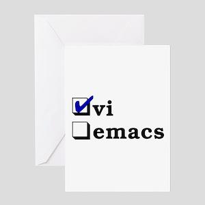 vi vs emacs -- vi Greeting Card