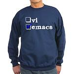 vi vs emacs -- emacs Sweatshirt (dark)