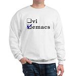 vi vs emacs -- emacs Sweatshirt
