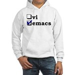 vi vs emacs -- emacs Hooded Sweatshirt