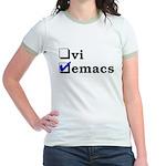 vi vs emacs -- emacs Jr. Ringer T-Shirt