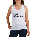 vi vs emacs -- emacs Women's Tank Top