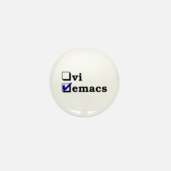 vi vs emacs -- emacs Mini Button