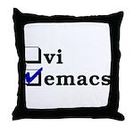 vi vs emacs -- emacs Throw Pillow
