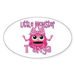Little Monster Tanya Sticker (Oval)