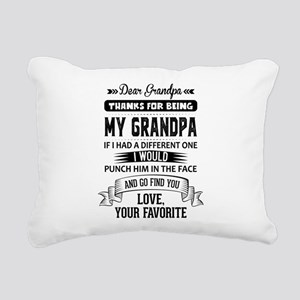 Dear Grandpa, Love, Your Favorite Rectangular Canv