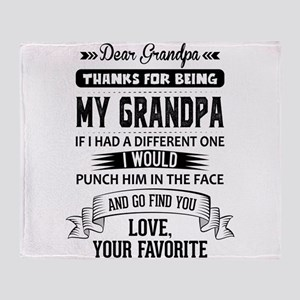 Dear Grandpa, Love, Your Favorite Throw Blanket