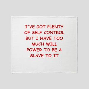 self control joke Throw Blanket