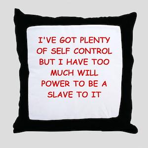 self control joke Throw Pillow