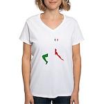 Italy Soccer Women's V-Neck T-Shirt