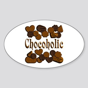 Chocoholic Sticker (Oval)