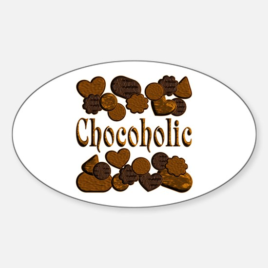 Chocoholic Sticker (Oval)