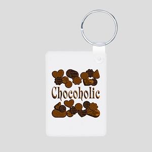 Chocoholic Aluminum Photo Keychain