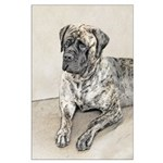 English Mastiff (Brindle) Large Poster