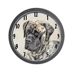 English Mastiff (Brindle) Wall Clock