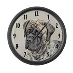 English Mastiff (Brindle) Large Wall Clock