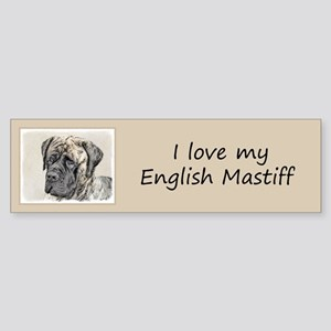 English Mastiff (Brindle) Sticker (Bumper)