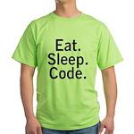 Eat. Sleep. Code. Green T-Shirt