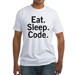 Eat. Sleep. Code. Fitted T-Shirt