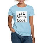 Eat. Sleep. Code. Women's Light T-Shirt