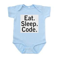 Eat. Sleep. Code. Infant Bodysuit