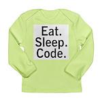 Eat. Sleep. Code. Long Sleeve Infant T-Shirt