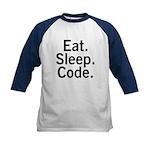Eat. Sleep. Code. Kids Baseball Jersey