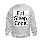 Eat. Sleep. Code. Kids Sweatshirt