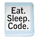 Eat. Sleep. Code. baby blanket