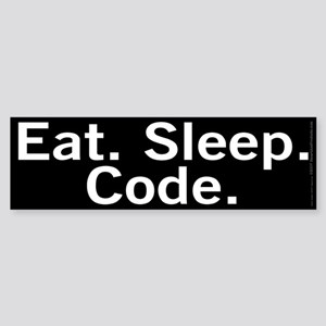Eat. Sleep. Code. Sticker (Bumper)