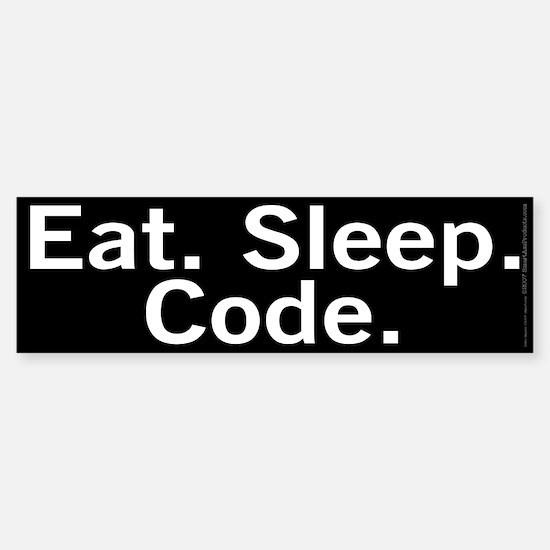 Eat. Sleep. Code. Sticker (Bumper)