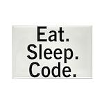 Eat. Sleep. Code. Rectangle Magnet (100 pack)