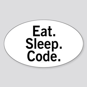 Eat. Sleep. Code. Sticker (Oval)