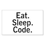 Eat. Sleep. Code. Sticker (Rectangle 10 pk)