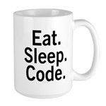 Eat. Sleep. Code. Large Mug