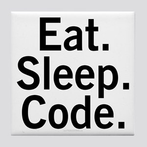 Eat. Sleep. Code. Tile Coaster