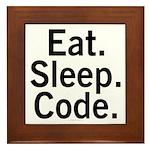 Eat. Sleep. Code. Framed Tile