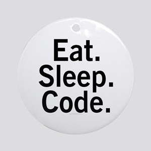 Eat. Sleep. Code. Ornament (Round)