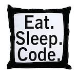 Eat. Sleep. Code. Throw Pillow