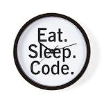 Eat. Sleep. Code. Wall Clock