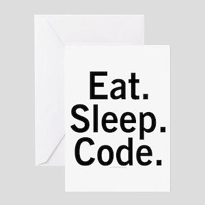 Eat. Sleep. Code. Greeting Card