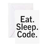 Eat. Sleep. Code. Greeting Cards (Pk of 10)