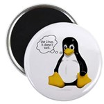 """Use Linux. It doesn't suck 2.25"""" Magnet (10 pack)"""