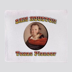 Sam Houston Throw Blanket