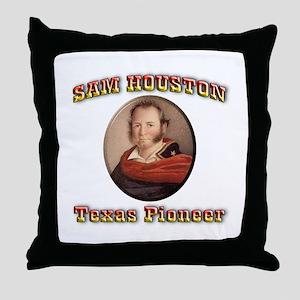 Sam Houston Throw Pillow
