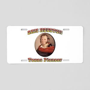 Sam Houston Aluminum License Plate