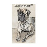 English Mastiff (Brindle Sticker (Rectangle 50 pk)
