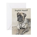 English Mastiff (Brindle) Greeting Card