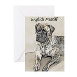 English Mastiff (Brindle Greeting Cards (Pk of 10)