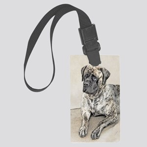 English Mastiff (Brindle) Large Luggage Tag